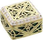 Dėžutė metalinė dekoruota Keltų raštais H:3 W:5 D:5 cm 15403 psb