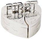Dėžutė pirmam dantukui ir pirmai sruogai sidabr. sp. CG140 H:3 W:6 D:6 cm
