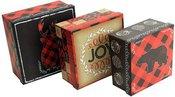 Dėžutės 3 vnt kvadratinės kartoninės H:9 W:18 D:18 cm XM2340 kld