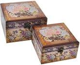 Dėžutės medinės 2 vnt. L: 22X22X13.5 S: 18X18X10.3 SAVEX