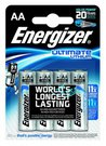 1x4 ENERGIZER Ultimate Lithium Mignon AA LR 6 1,5V