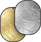 Fotostudijos reflektorius Sidabrinis/Auksinis 120x180cm