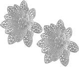 Gėlės žiedai nerti 2 vnt. 10x10x3.5 cm 103488 pilki ddm