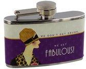 "Gertuvė plieninė 3 oz moterims ""We Get Fabulous"" H:7 W:9 D:2 cm SP1238"