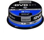 1x25 Intenso DVD+R 4,7GB 16x Speed Cakebox printable