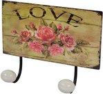 """Kabykla 2 kablių su rožių piešiniu """"Love"""" 94319"""