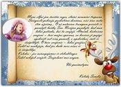 Kalėdų Senelio laiškas - Briedžiukas