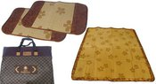 Kilimėlis bambukinis 194x148 ir 2 vnt. užvalkalų pagalvėlėms (75x47) noakc