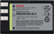 Kodak Nikon Li-Ion Akku EN-EL 9 1020mAh
