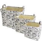 Krepšiai iš tekstilės 3 vnt. L: 40x30x40 cm M: 35 x25 x36 cm 30x20x32 cm SAVEX