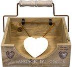 Laikiklis servetėlėms medinis su širdele 9x21x20 cm 60568 DDM