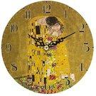 Laikrodis sieninis 14,5x14,4x3,5 cm Klimt. Bučinys motyvais 113415 w7a78-00216