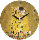 Laikrodis sieninis 29x29x4 cm Klimt. Bučinys motyvais 113416 w7a79-00223