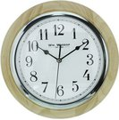 Laikrodis sieninis D 26 cm arabiškais skaitmenimis W5866 šviesaus medžio spalvos