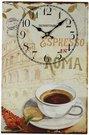 Laikrodis sieninis Paveikslas su kavos puodeliu Romoje H:38 W:25 D:2 cm W7771