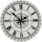 """Laikrodis sieninis """"Kompasas"""" stiklinis W7870 H:34 W:34 D:3 cm"""