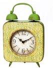 """Laikrodis sieninis """"Žadintuvas"""" sendinto metalo 31x20 cm O982 žalias"""