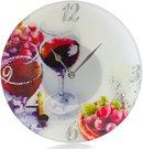 Laikrodis sieninis stiklinis D 30 cm Vynas W9019 psb