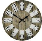 Laikrodis sieninis su Domino kauliukais W7869 H:34 W:34 D:3 cm
