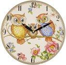 Laikrodis sieninis su pelėdų piešiniu 29x29x4 cm 114197 ddm