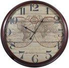 Laikrodis sieninis su žemėlapiu 82x9 cm 80542