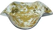 Lėkštė metalinė dekoratyvinė 6,5x24x24 cm 98361 aukso spalvos