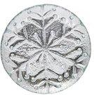 Lėkštelė stiklinė sidabro spalvos KLD YQM7198-1 dia.19.5*2.3CM SAVEX