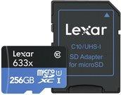 Lexar microSDXC 633x UHS-I 256GB with Adapter