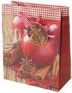Maišelis dovanoms 25x20x10 cm Kalėdų obuolys 99203 KLD