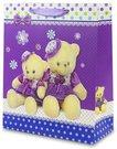 Maišelis dovanoms su meškiukais violetinis 32x26x12 cm 107993