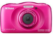 Nikon COOLPIX W100 Backpack kit Compact camera, 13.2 MP, Optical zoom 3 x, Digital zoom 2 x, ISO 1600, Display diagonal 6.86 cm, Wi-Fi, Focus 0.05m - ∞, Video recording, Lithium-Ion (Li-Ion), Pink