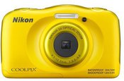 Nikon COOLPIX W100 Backpack kit Compact camera, 13.2 MP, Optical zoom 3 x, Digital zoom 2 x, ISO 1600, Display diagonal 6.86 cm, Wi-Fi, Focus 0.05m - ∞, Video recording, Lithium-Ion (Li-Ion), Yellow