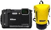 "Nikon Coolpix W300 Holiday Kit Compact camera, 16.0 MP, Optical zoom 5 x, Digital zoom 4 x, ISO 6400, Display diagonal 3.0 "", Wi-Fi, Focus 0.5m - ∞, Video recording, Lithium-Ion (Li-Ion), Black"