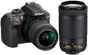 Nikon D3400 su AF-P DX Nikkor 70-300mm F4.5-6.3G ED + AF-P DX NIKKOR 18-55mm f/3.5-5.6G VR