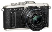 """Olympus PEN E-PL8 + 14-42 IIR System, 16.1 MP, Image stabilizer, ISO 25600, Display diagonal 3.0 """", Video recording, Wi-Fi, F.A.S.T. AF (Contrast Detection), Magnification x5, x7, x10, x14 x, Live MOS, Black"""
