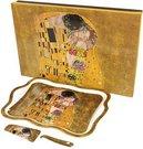 Padėklas pyragui su mentele 3x35x25,5 cm 97690 Klimt. Bučinys