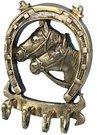 Pakaba sieninė 4 kablių Pasaga su arkliais 86565 14x10 cm vario spalvos