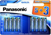 Panasonic Evolta battery LR6EGE/8B (5+3)
