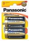 Panasonic Power Bronze Alkaline D size (LR20APB), 2-pack