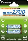 Panasonic rechargeable battery NiMh 2700mAh AA/2B