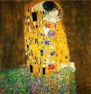 Paveikslo Klimt. Bučinys reprodukcija 100x100 cm. 92951, 92684