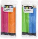 Pieštukai grafitiniai su trintuku 12 vnt. 18.5 cm FN4706 (2 spalvų) ddm