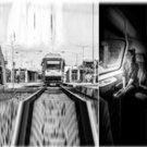 Portretinė fotografija keliaujant traukiniu