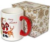 Puodelis arbatai su Kalėdų senelio piešiniu 9,5x11,5x8 cm 106869 kld
