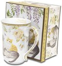 Puodelis arbatai su katinų piešiniu 12,5x13x9 cm 108767 ddm