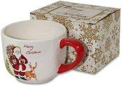 Puodelis arbatai/sultiniui su Kalėdų senelio piešiniu 8,5x15x11 cm 106872 kld