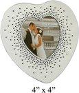 Rėmelis 10x10 cm širdelės formos vestuvinis FG527