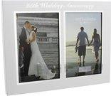 Rėmelis 2-ms nuotraukoms 10x15 cm 25 vestuvių metinėms WG60825 metalinis