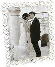 Rėmelis - širdelės vestuvinis 10*15 cm su kristalais FS19546 psb