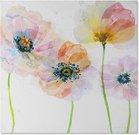 Reprodukcija ant drobės ir porėmio 1727151 Gėlės I 50x50
